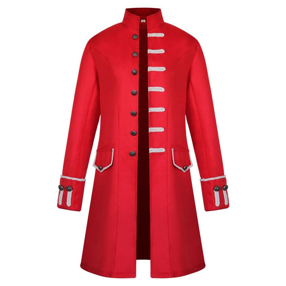 Pevor Men's Steampunk Tailcoat Jacket Gothic Victorian Frock Coat Halloween Costume