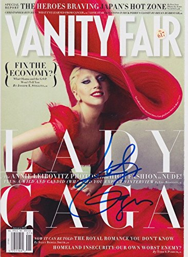 Lady Gaga signed Vanity Fair magazine