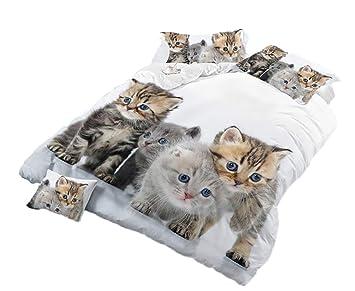 LanS Serie de Animales para Gatos y Perros - Ropa de Cama de Cuatro Piezas (Funda de ...