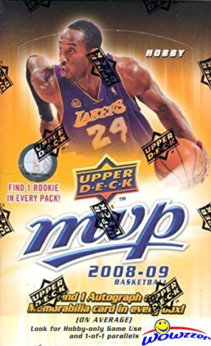 2008/09 Upper Deck MVP NBA Basketball MASSIVE Factory Sealed HOBBY Box with One AUTOGRAPH or MEMORABILIA Card! Look for Rookies & Autos of Russell Westbrook, Kevin Love, Derrick Rose & More! WOWZZER! ()