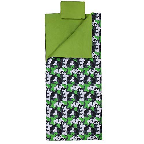 Wildkin Sleeping Bag, Green - Bag Camouflage Green Sleeping