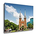 Ashley Canvas Saigon Notredame Cathedral Basilica In Ho Chi Minh Vietnam Wall Art Decoration Picture Painting Photo Photograph Poster Artworks, 20x25