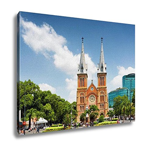 Ashley Canvas Saigon Notredame Cathedral Basilica In Ho Chi Minh Vietnam Wall Art Decoration Picture Painting Photo Photograph Poster Artworks, 20x25 by Ashley Canvas