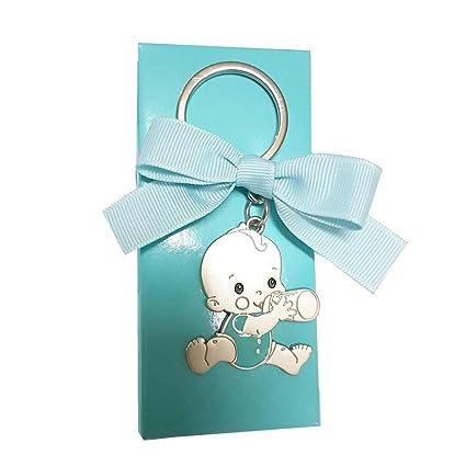 Llaveros bebé GRABADOS para bautizo de niño (pack 15 unidades) regalos detalles PERSONALIZADOS para invitados