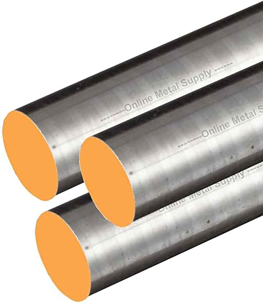 """6/"""" Length 0.50 in Dia Extruded 304 Stainless Steel Round Rod 1//2/"""" Diameter"""