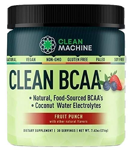 Clean Machine BCAA Fruit Punch Powder, 30Count