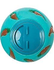 Trixie Plastikowa kula na przekąski, 7 cm, różne kolory (niebieska/żółta)