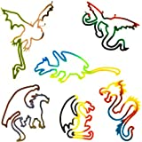 Buddy Bands - Dragons - 12 Pack 2X Double Wrap Bands, Tie Dye Colors (Compare to Silly Bandz, Zany Bands, Goofy Bands…