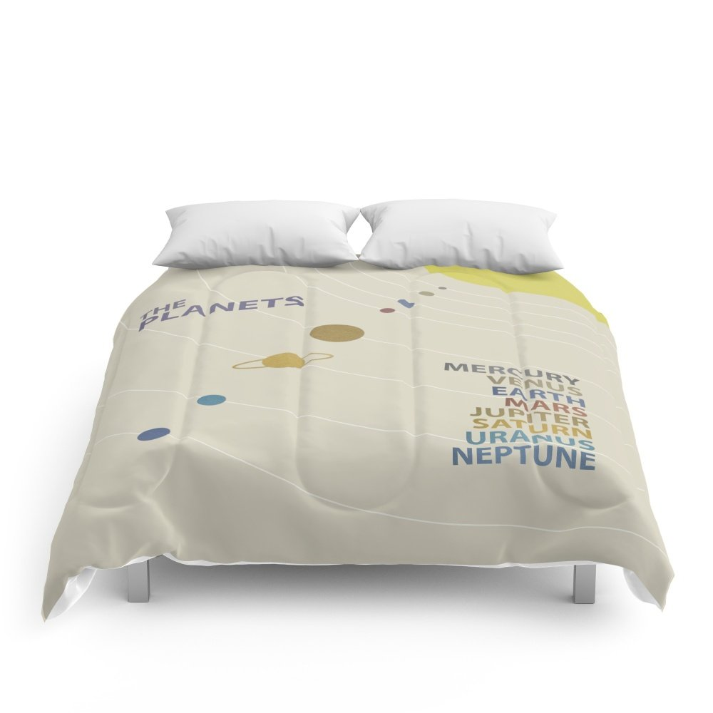 Society6 Solar System Comforters Queen: 88'' x 88''