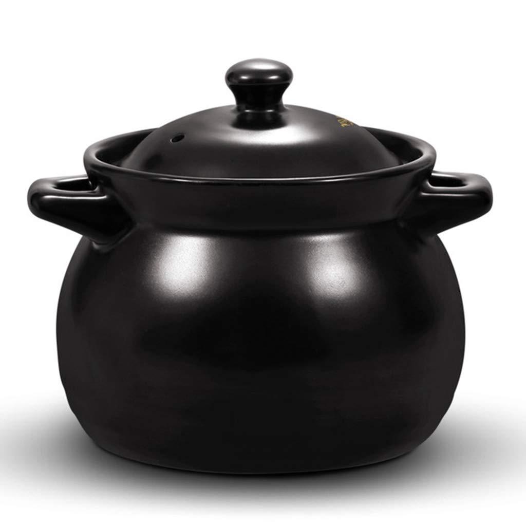 ZYY Cazuela Pequeña, Olla De Sopa, Olla De Leche, Sopa De Cerámica De Alta Temperatura, Avena, Estofado, Etc. (1L)