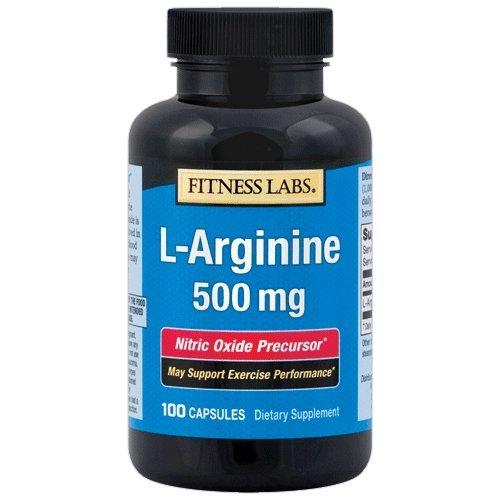Fitness Labs L-Arginine 500 Mg, 100 Capsules -