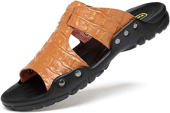 Zipong Sandalias De Piel Para Hombre Tallas Grandes Marron 17m Us Amazon Com Mx Ropa Zapatos Y Accesorios