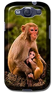Fantastic Faye Cell Phone Cases For Samsung Galaxy S3 i9300 No.2 The Beautiful Design With Cute Naughty Cartoon Monkey by lolosakes