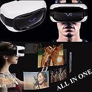 Lunettes 3d VR tout en un, Bevifi casque de réalité virtuelle écran LCD de 12,7cm 1280x 720Android 5.1VR Headset avec 1Go de RAM 8Go de mémoire, prise en charge Wifi/carte TF/USB OTG (téléphone non Nécessaire)
