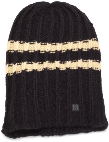 Isotoner Men's Brushed Acrylic Blend Fairisle Pull-On Hat, Black, One Size (Pull Hat On Wool)