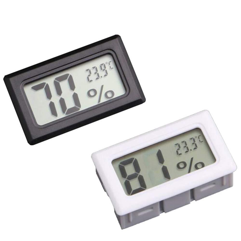 Goodplan 1 PCS Thermom/ètre /Électronique Hygrom/ètre Mini LCD Num/érique Temp/érature Int/érieure Humidit/é Compteur pour Bureau /À Domicile Utilisation De La Voiture Blanc