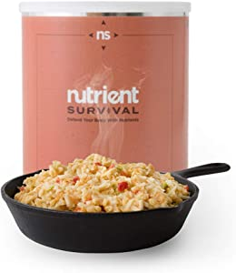 Nutrient Survival Homestyle Scramble | Freeze Dried Breakfast Skillet | Nutrient Dense | Non-perishable #10 Can | 25 Year Shelf Life | Emergency Food