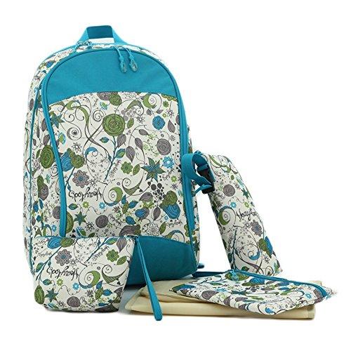 Mummy bolsa mochila multi-funcional de gran capacidad materna y niño bebé para estar embarazada embarazadas bebé salir de la bolsa de la madre de la moda ( Color : Azul ) Azul