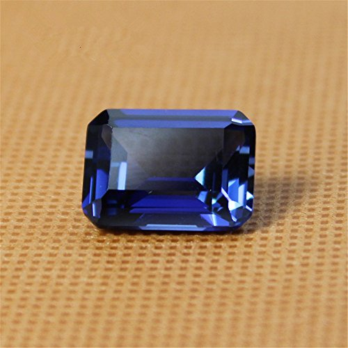 - LINHAO Beads Sapphire Rectangle Faceted Gemstone Emerald Cut Sapphire Gem Cabochon C36S