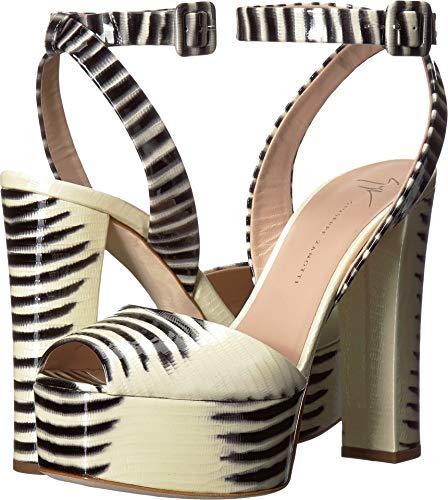 - Giuseppe Zanotti Women's Betty Platform Sandal Raya Bianco/Nero 39.5 M EU