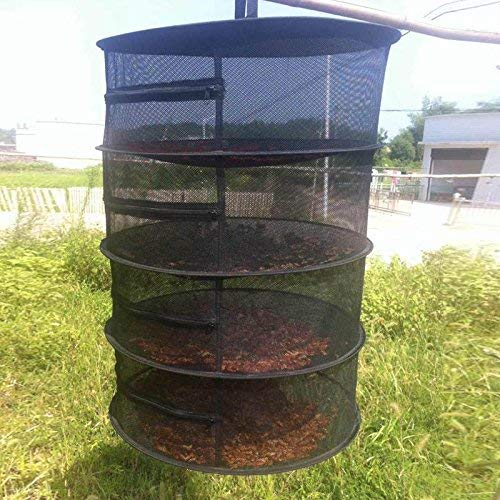 4 Layer Net with Zipper Racks for Sun-dried Herb chengJellyLibrary Herb Drying Rack