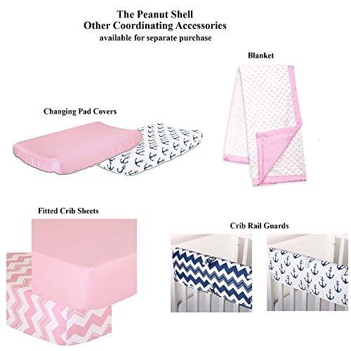 Anchor Nautical 4 Piece Baby Crib Bedding Set In Pink
