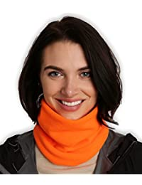 Fleece Neck Warmer - Neck Gaiter Tube, Ear Warmer...