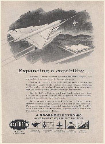 1960-raytheon-airborne-electronic-rd-lab-b-58-aircraft-doppler-radar-print-ad-memorabilia-55435