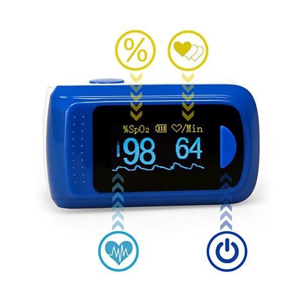 Medx5OLED pantalla a colori, pulsossimetro, pulsossimetro Da dito, dispositivo per la misurazione del polso, ossimetro, misuratore Da polso, prodotto Medico 50 unidades 4