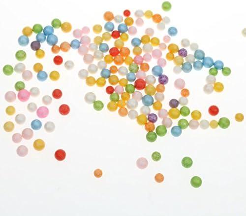 20g カラフル モデリング クラフト 発泡 スチロール 球 詰め合わせ ボール 3〜10ミリメートル