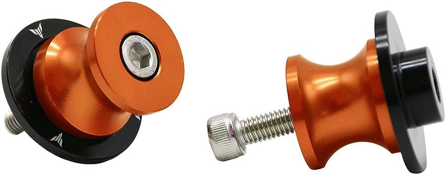Gold 2 Pieces 6MM Motorcycle CNC Swing Arm Stand Screws Swing Arm Sliders Spools For Yamaha FZ01 FZ03 FZ09 FZ10 YZF R1 R3 R6 R25 R125 R1000 R6S FZ1 FZ6 FZ8 FZS1000 FZS600 Aprilia RSV4 R Tuono V4 Dorsoduro