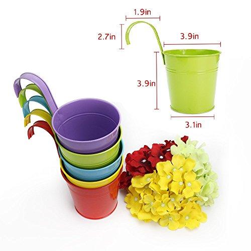 greenmall macetas metlicas de hierro macetero para colgar en el balcn decoracin para el hogar y el jardn colores amazones jardn