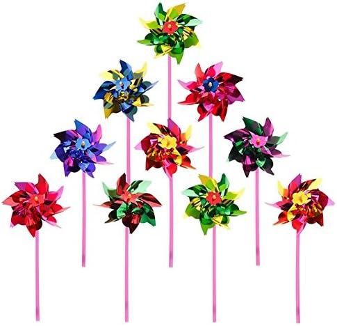 10 molinillos de viento de plástico de juguete para niños o como ...