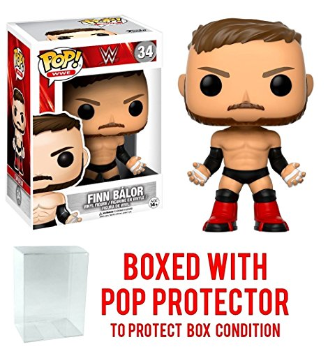 Funko Pop! WWE Finn Balor Vinyl Figure (Bundled with Pop BOX PROTECTOR CASE) by Funko