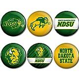 WinCraft North Dakota State Bison Official NCAA Metal Button Badge Pin Set 6 Pack 991584
