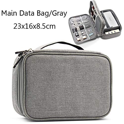 (Best Quality - Storage Bags - Multifunction Digital Storage Bag Empty USB Data Cable Earphone Wire pen Power bank HDD Organizer Portable Travel Kit Case Pouch - - 1 PCs)