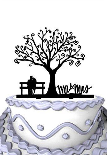 Meijiafei Cherry Blossom Tree The Bride and Groom Sit in Chair Script Mr&Mrs Wedding Cake (Cherry Blossom Dessert)