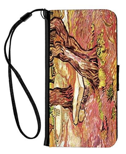 rikki knight Van Gogh Art el banco de piedra en el jardín diseño iPhone 6y 6s PU portafolios funda con tapa con función...