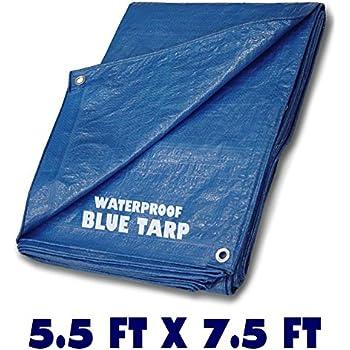 Blue Multi Purpose Waterproof Poly Tarp Cover 5 5 Ft X 7
