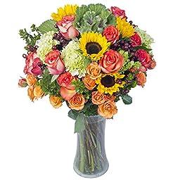Eflowy Lovely Expression Vase Floral Arrangement