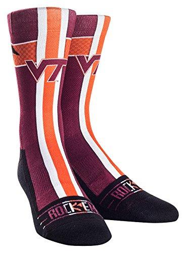NCAA Virginia Tech Hokies Custom Athletic Crew Socks, Jersey Series-Maroon, Youth
