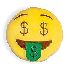 Money Face Shelfies Emoji Pillow