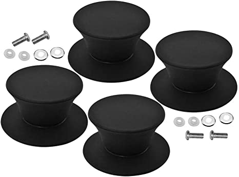 Pot Lid Knob Silicone Universal Pot Lid Cover Knob Handle Kitchen Cookware Lid Replacement Black
