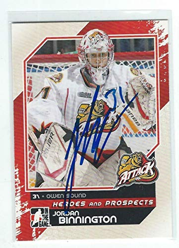 (Jordan Binnington Signed 2010/11 Heroes and Prospects Card #175 St Louis Blues - Hockey Slabbed Autographed Cards)