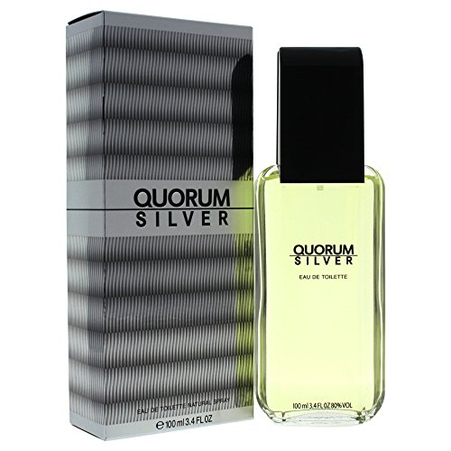 Quorum Silver by Antonio Puig Eau de Toilette Spray 3.4 - Fragrance Discount Silver Mens