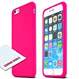 iPhone 6 Plus Case,Apple Iphone 6 Plus Skin [hot Pink] Protective Bumper Case W/ Flexible Tpu Impact Resistant Material [Perfect Fitting Apple Iphone 6 Plus Case]