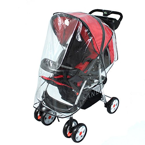 Chinatera Universal Ultraviolet-proof Dustproof Waterproof Jogging Strollers Pushchairs Baby Carriage Weather Rain Cover Wind Shield Canopy Protector