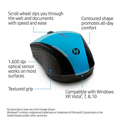 HP X3000 Wireless Mouse Blue K5D27AAABL
