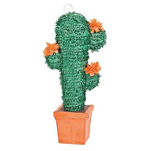 Fun Express - Cactus Pinata for Cinco de Mayo - Party Decor - General Decor - Pinatas - Cinco de Mayo - 1 Piece ()