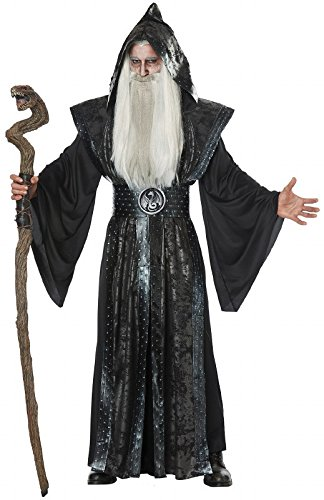 California Costumes Men's Dark Wizard Adult Man Costume, Black, Large/XLarge]()